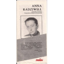 Ulotka Maria Sielicka-Gracka - Wybory 1989