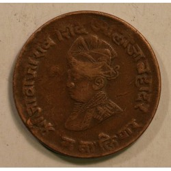 Gwalior, Jivaji Rao 1/2 anna 1942 AD