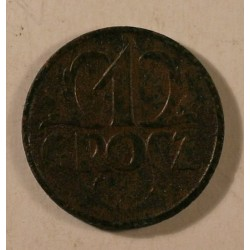 1 grosz 1927. Brąz