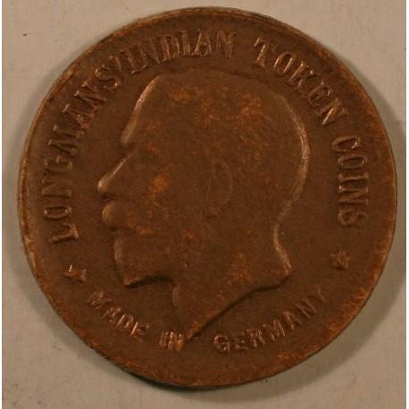 Indie, Longmans' Indian Token 1/4 anna 1911
