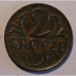 2 grosze 1925. Brąz.