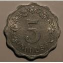 Malta 5 mils 1972