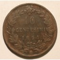 Włochy 10 centesimi 1894 BI