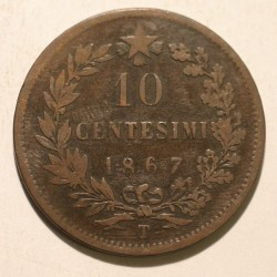 Włochy 10 centesimi 1867 T