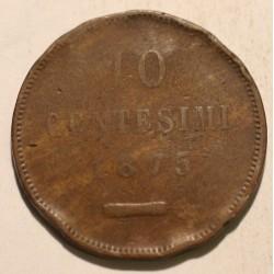 San Marino 10 centesimi 1875