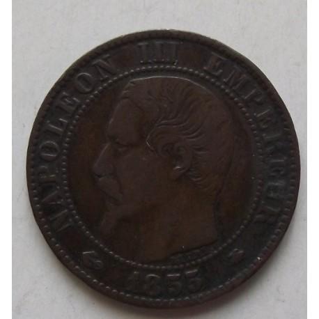 Francja 5 cent 1855. Panujący Napolen III
