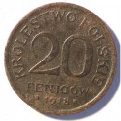 Królestwo Polskie 20 fenigów 1918
