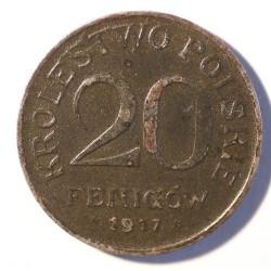 Królestwo Polskie 20 fenigów 1917