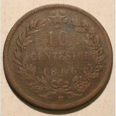 Włochy 10 centesimi 1866 H