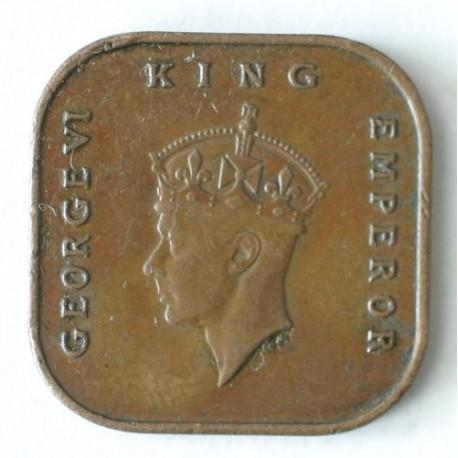 Malaje 1 cent 1945. Brąz