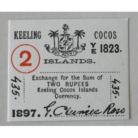 Wyspy Kokosowe 2 rupie 1897.