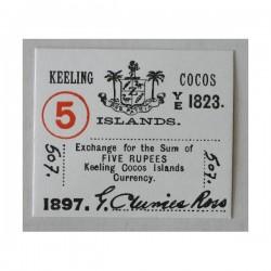 Wyspy Kokosowe 5 rupii 1897
