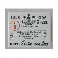 Wyspy Kokosowe 1/2 rupii 1897