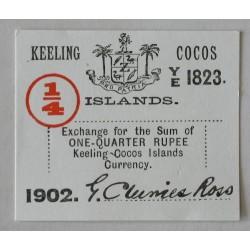 Wyspy Kokosowe 1/4 rupii 1902
