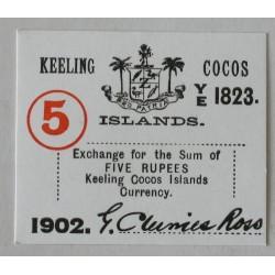 Wyspy Kokosowe 5 rupii 1902