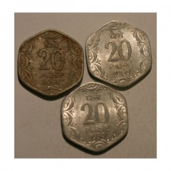 20 paise 1981, 1989, 1990
