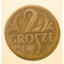 2 grosze 1923. Mosiądz