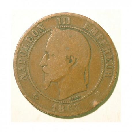 Francja 10 centimes 1863 A