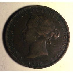 Jersey 1/13 szylinga 1866, brąz.