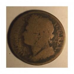 Irlandia 1 pens 1823. Miedź