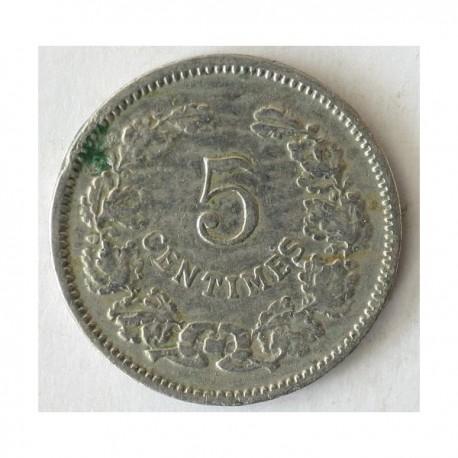 Luksemburg 5 centimes 1901. Nikiel.