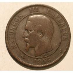 Francja 10 centimes 1856 W