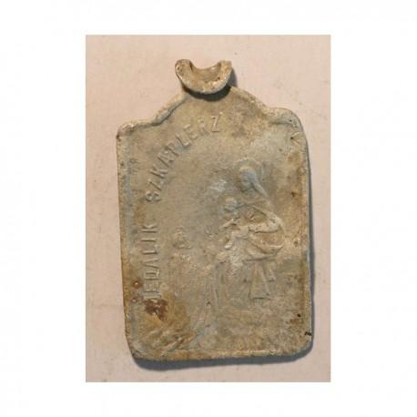 Medalik - szkaplerz, I połowa XX wieku. Aluminium