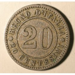 Włochy 20 cent 1894. Miedzionikiel.
