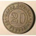 Włochy 20 cent 1894