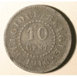 Belgia 10 cent 1916. Cynk.