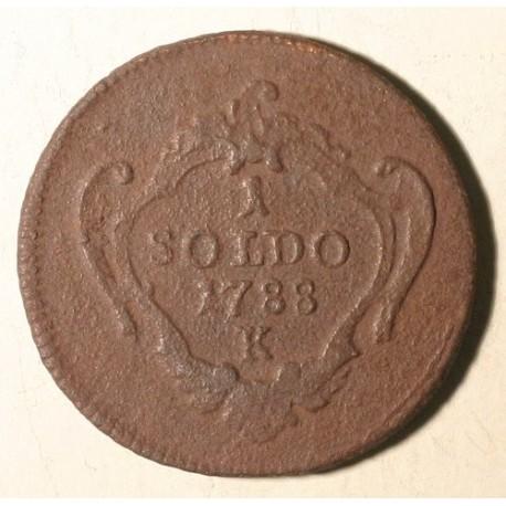 Gorycja 1 soldo 1788 K. Gorycja to miasto i gmina we Włoszech przy granicy ze Słowenią.