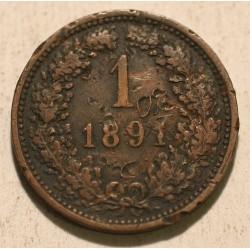 1 krajcar 1891
