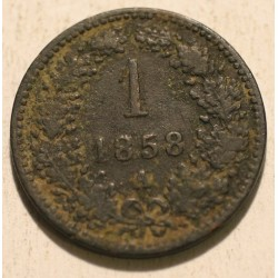 1 krajcar 1858 A