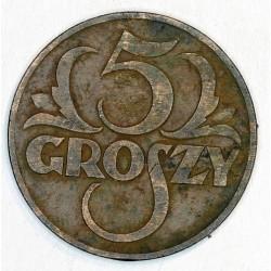 5 groszy 1937. Brąz.
