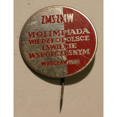 ZMS ZMW VI Olimpiada Wiedzy o Polsce i Świecie Współczesnym