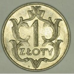 1 złoty 1929. Nikiel.