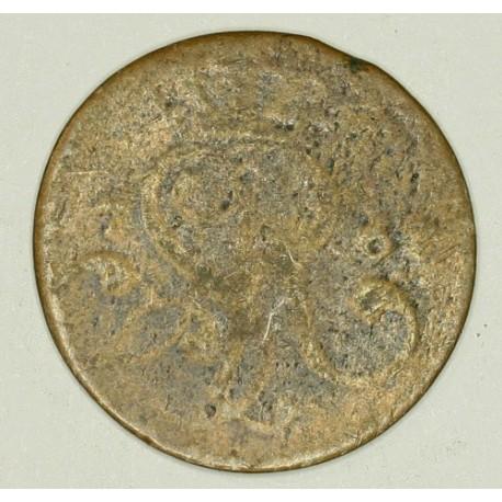 Grosz koronny 1767 G. Miedź.