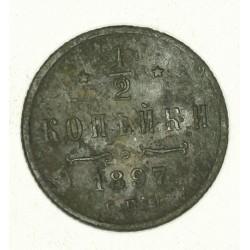 1/2 kopiejki 1897. Miedź. Mennica Petersburg