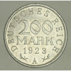 200 mark 1923 A Republika Weimarska