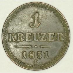 1 krajcar 1851 B