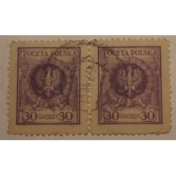 1924 Orzeł w wieńcu 30gr parka pozioma