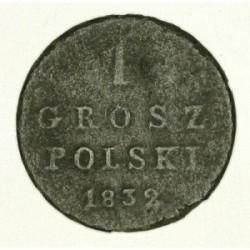 1 grosz polski 1832 KG. Miedź.
