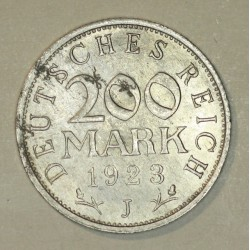 200 mark 1923 J Republika Weimarska