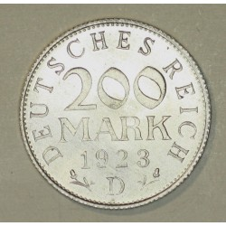 200 mark 1923 D Republika Weimarska