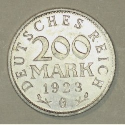 200 mark 1923 G Republika Weimarska