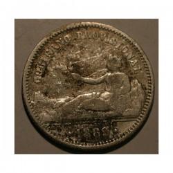 Hiszpania 1 peseta 1869 Gobierno Provisional