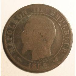 Francja 5 centimes 1855 W