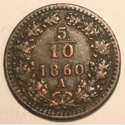 5/10 krajcara 1860 A