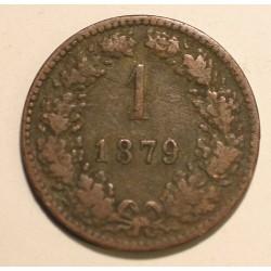 1 krajcar 1879