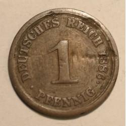1 pfennig 1886 E